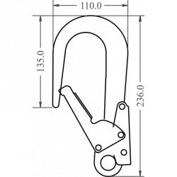 Mousqueton d'échafaudage - FA 50 208 60