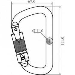 Mousqueton acier à verrouillage automatique triple action - FA 50 301 23