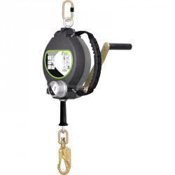 Retractable fall arrester with integrated rescue winch 30 m - FA 20 401 30