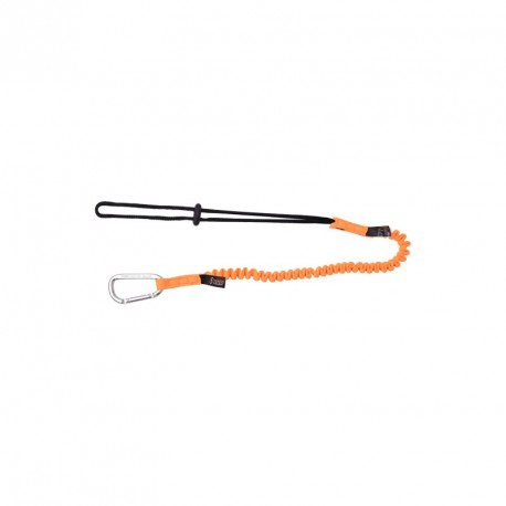 Stretch lanyard for connecting tools