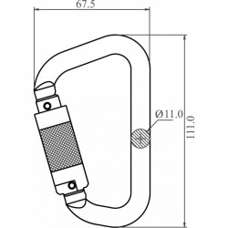 Aluminium Quarter Turn Locking Karabiner - FA 50 201 22